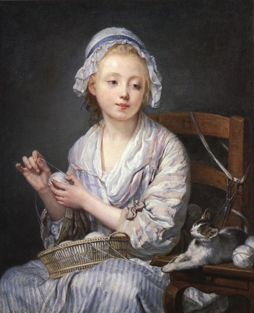 The Wool Winder 1759 | Jean Baptiste Greuze | Oil Painting