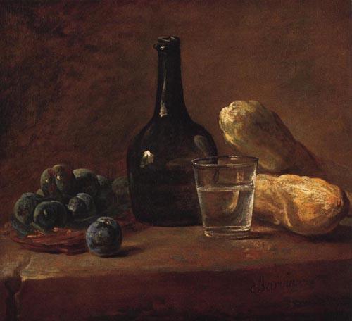 Still Life with Plums 1730   Jean Simeon Chardin   Oil Painting