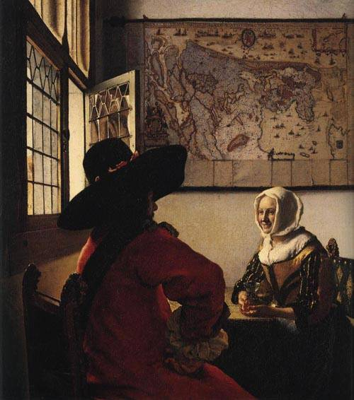 Officer and Laughing Girl 1665-1670 | Johannes Vermeer | Oil Painting
