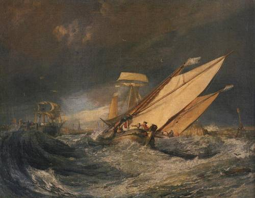 Fishing Boats Entering Cal 1803 | Joseph Mallord William Turner | Oil Painting