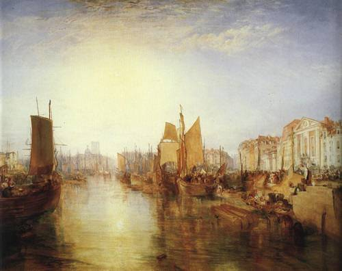 The Harbor of Dieppe 1826 | Joseph Mallord William Turner | Oil Painting