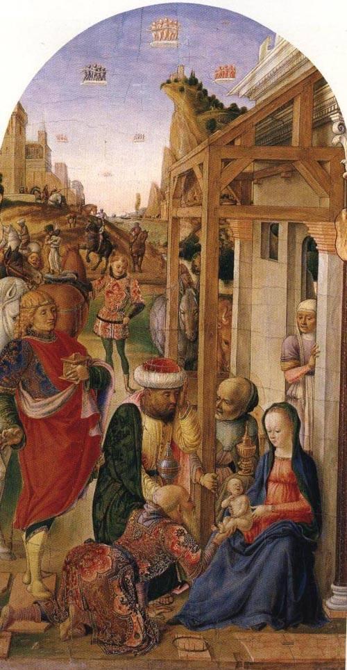 The Adoration of the Magi 1470-1480 | Lazzaro Bastiani | Oil Painting