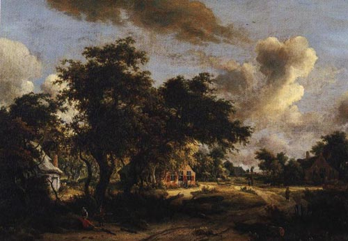 Village Among Trees 1665 | Meyndert Hobbema | Oil Painting