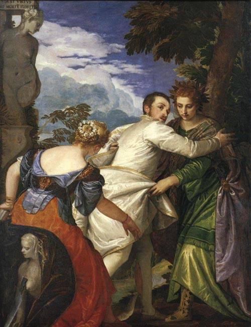 Allegory of Virtue and Vice 1580 | Paolo Veronese | Oil Painting