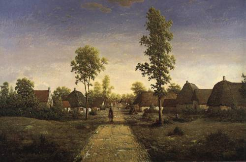 The Village of Becquigy 1857-1864 | Pierre Etienne Theodore Rousseau | Oil Painting