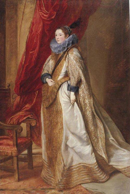 Paola Adorno Marchesa Di Brignole Sale 1627 | Sir Anthony Van Dyck | Oil Painting