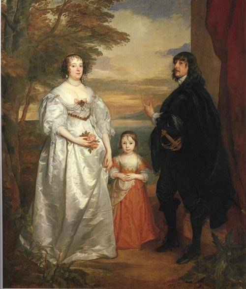 James Seventh Earl of Derby His Lady and Child 1641 | Sir Anthony Van Dyck | Oil Painting