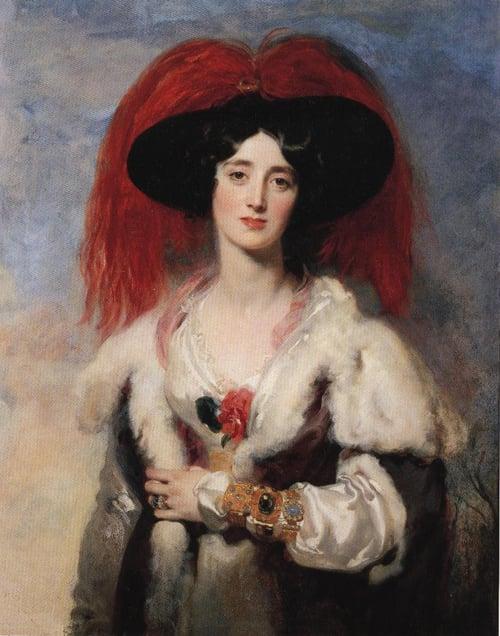 Lady Peel 1827   Sir Thomas Lawrence   Oil Painting