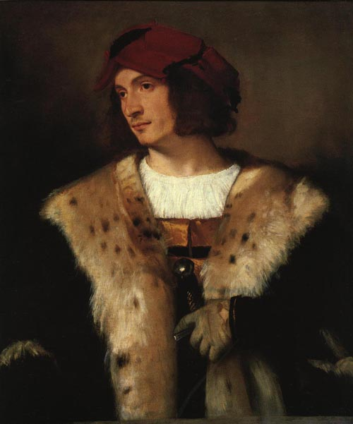 Portrait of a Man in a Red Cap 1516 | Titian | Oil Painting