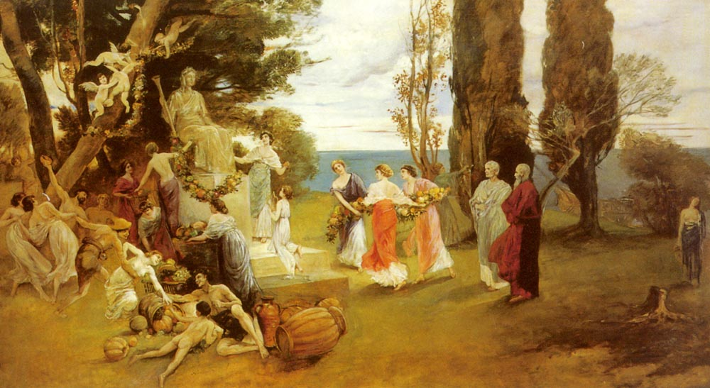 In Arcadia | Friedrich August von Kaulbach | Oil Painting