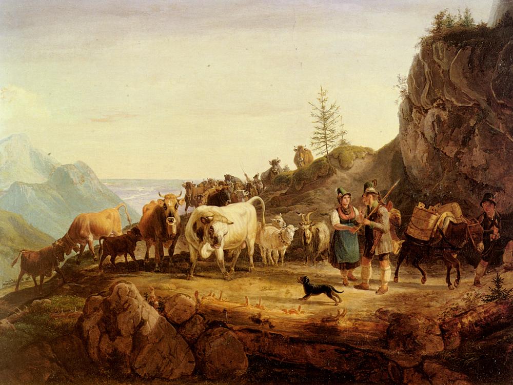 Almabtrieb | Friedrich Gauermann | Oil Painting
