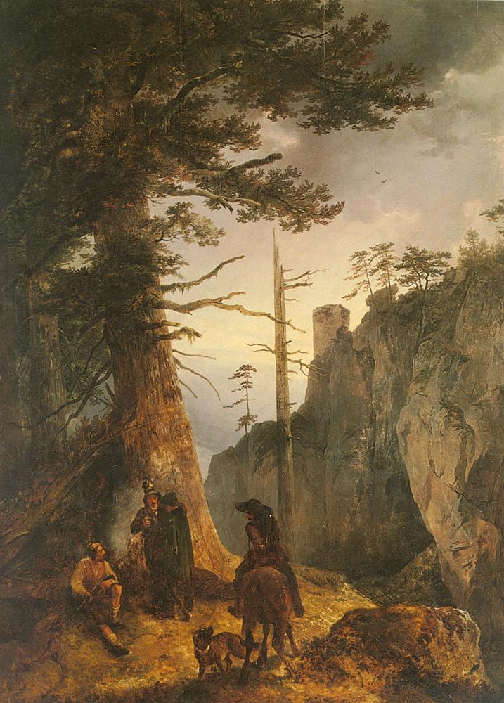 Jager Vor Einer | Friedrich Gauermann | Oil Painting