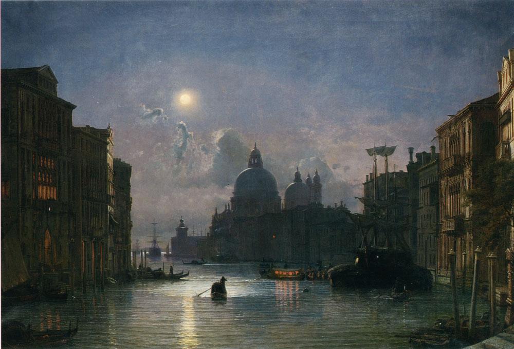 Santa Maria Della Salute Venice   Friedrich Nerly   Oil Painting