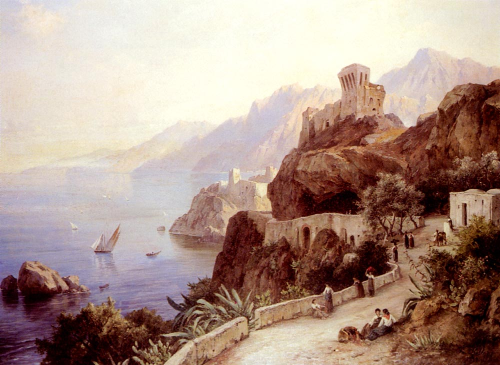 The Bay Of Salerno | Friedrich Preller | Oil Painting