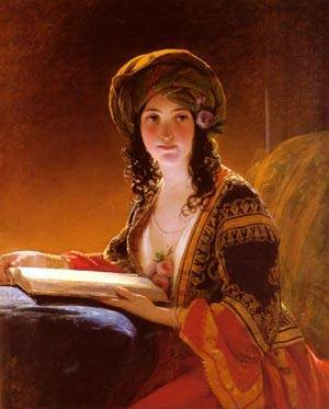 The Oriental | Friedrich Von Amerling | Oil Painting