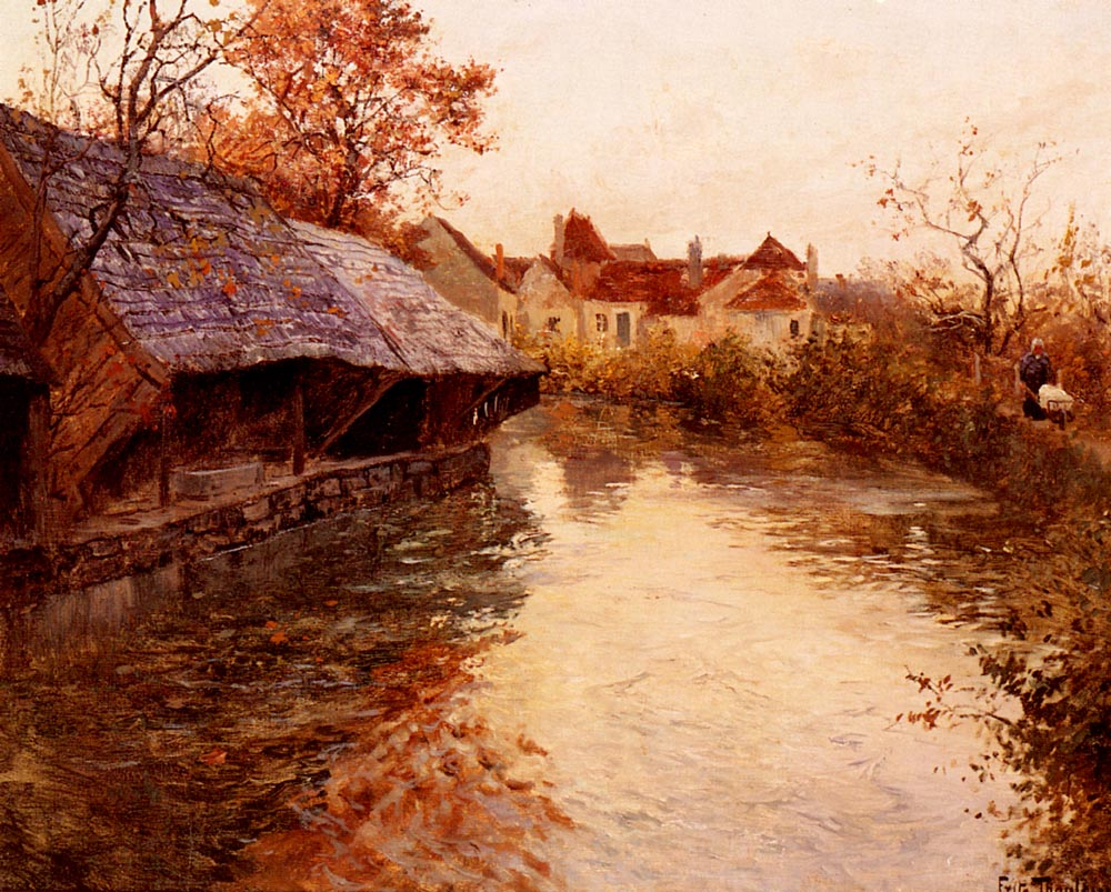 A Morning River Scene | Frits Thaulow | Oil Painting
