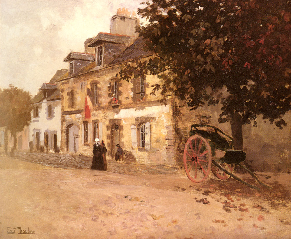 A Village Street In France | Frits Thaulow | Oil Painting