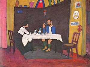 Kandinsky And Erma Bossi At The Table In The Murnau House 1912 | Gabrielle Munter | Oil Painting