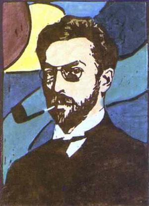 Portrait Of Wassily Kandinsky 1906 | Gabrielle Munter | Oil Painting