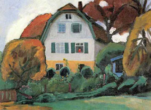 The Russians House 1931 | Gabrielle Munter | Oil Painting