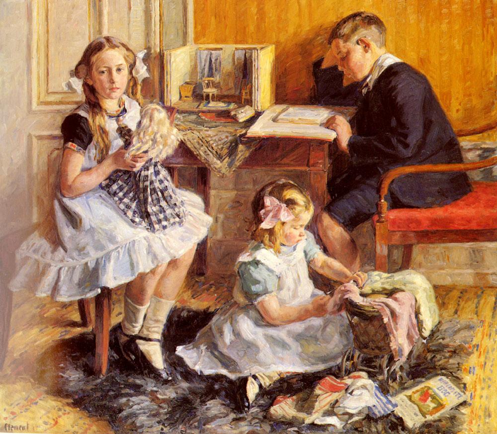 Childrens Pastimes | Gad Frederik Clement | Oil Painting