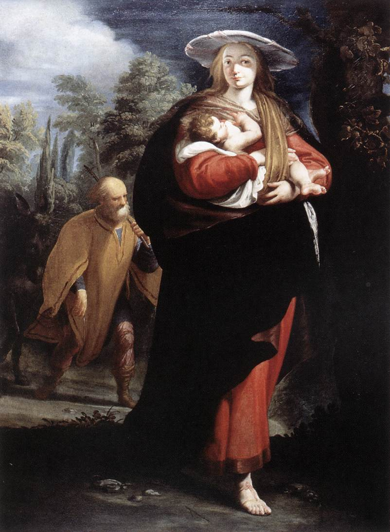The Flight Into Egypt 1620s | G Andrea Ansaldo | Oil Painting