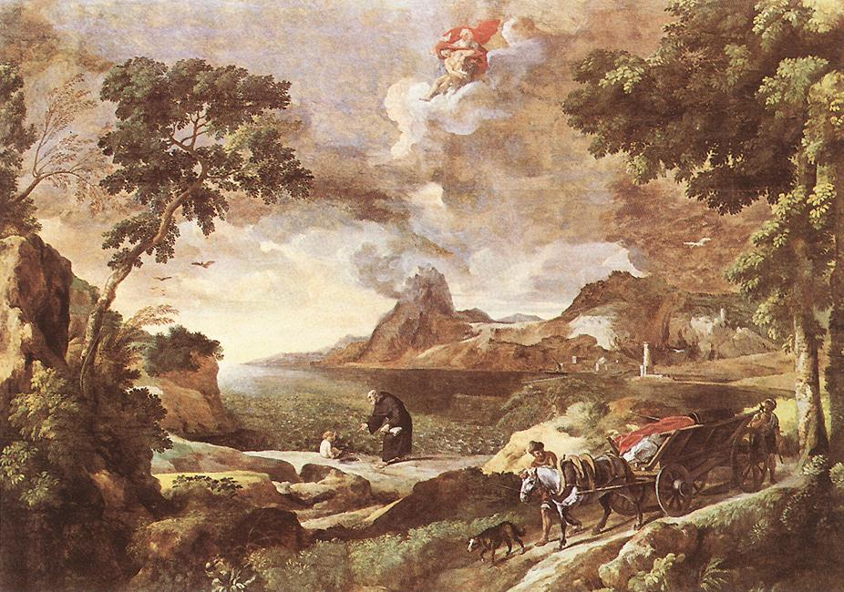 Landscape With St Augustine And The Mystery 1651-53 | Gaspard Dughet | Oil Painting