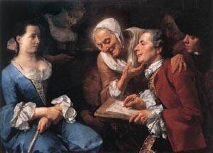 The Sitting 1754 | Gaspare Traversi | Oil Painting