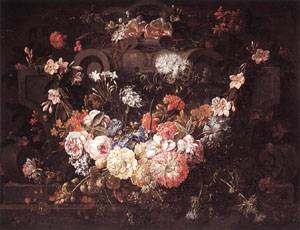Cartouche with Flowers | Gaspar Pieter The Younger Verbruggen | Oil Painting