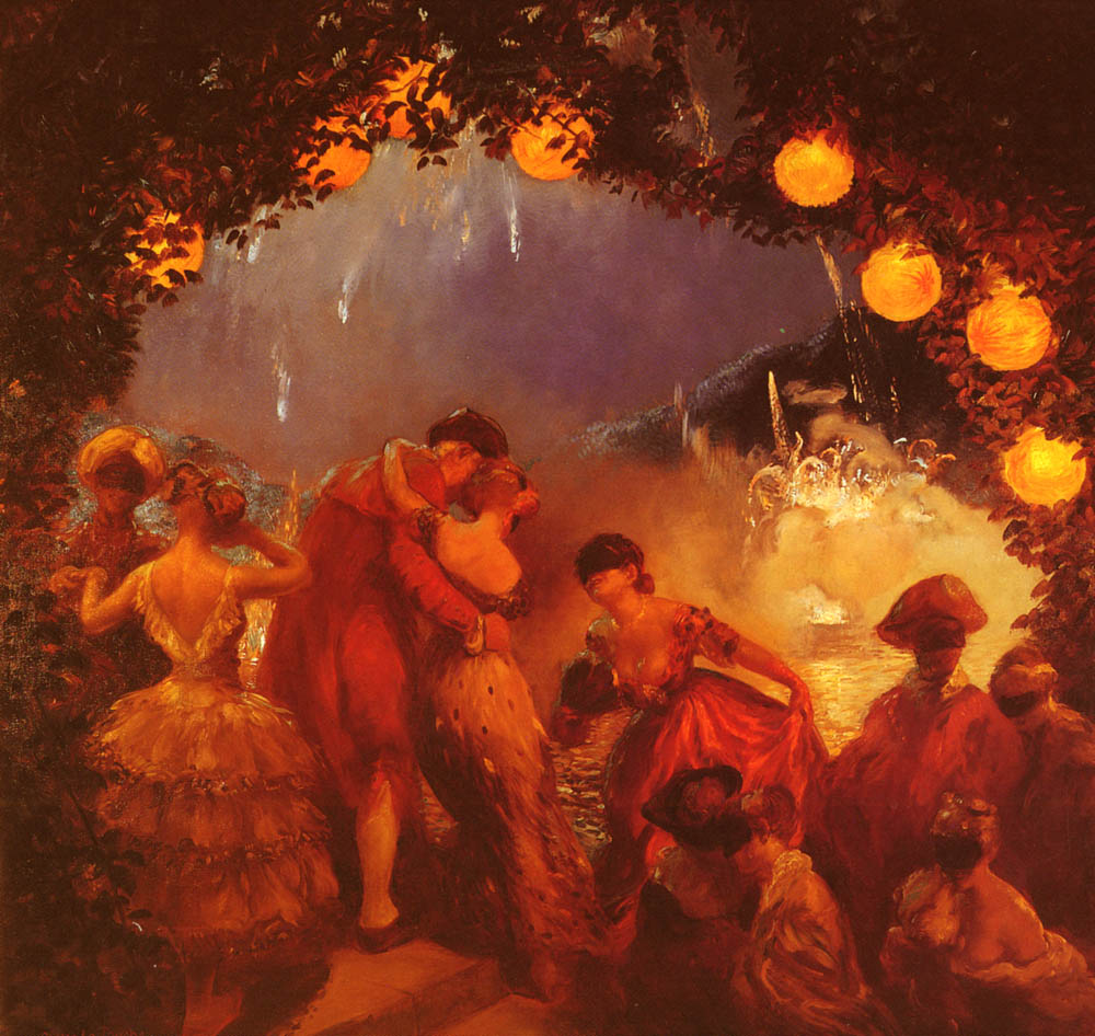 LIntrigue Nocturne | Gaston De Latouche | Oil Painting