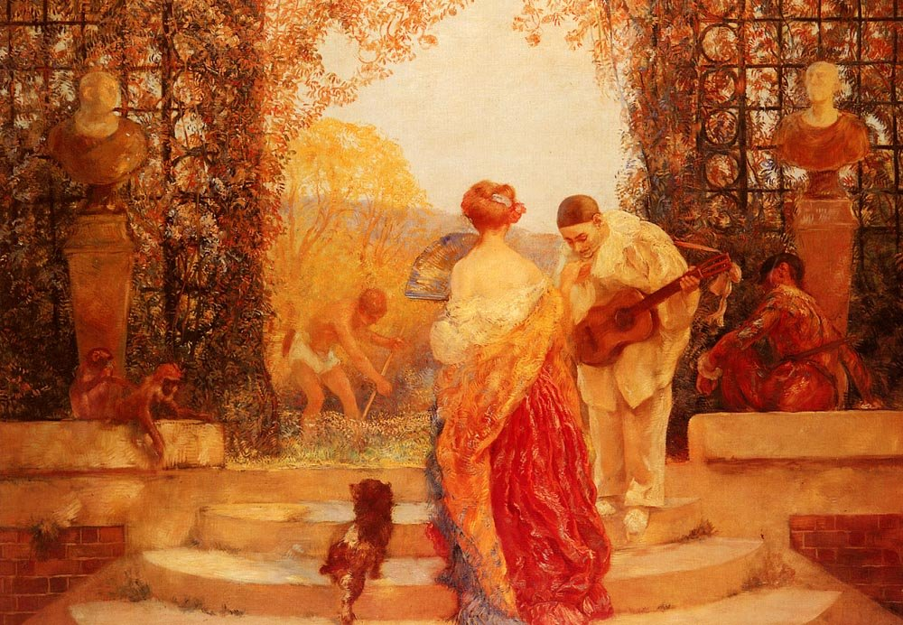 La Salutation De Pierrot | Gaston De Latouche | Oil Painting