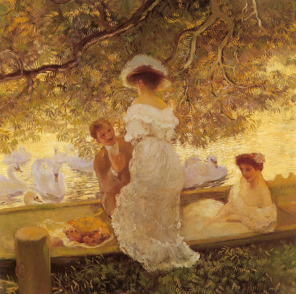 The Boating Party | Gaston De Latouche | Oil Painting