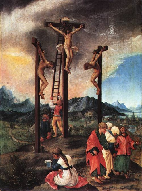 Christ on the Cross between the Two thieves 1526 | Albrecht Altdorfer | Oil Painting