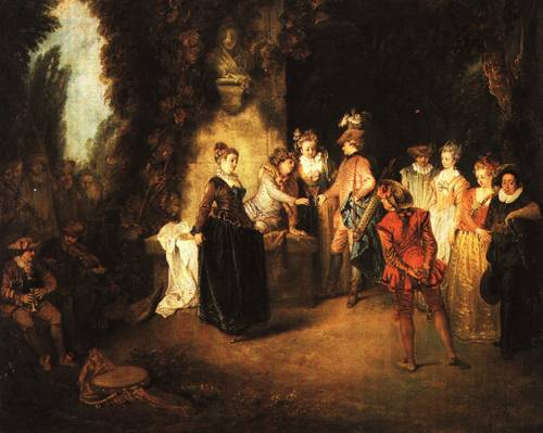 The Italian Comedy After 1716 | Antoine Watteau | Oil Painting