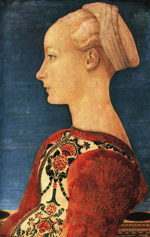Portrait of a Young Woman in Profile 1465 70 | Antonio del Pollaiuolo | Oil Painting