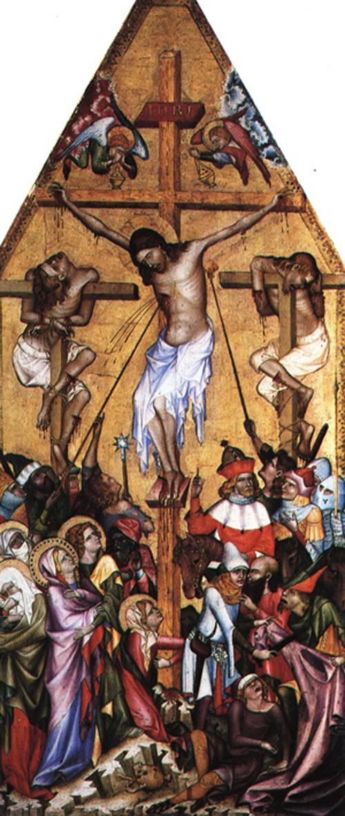 The Crucifixion 1360 | bohemian school | Oil Painting