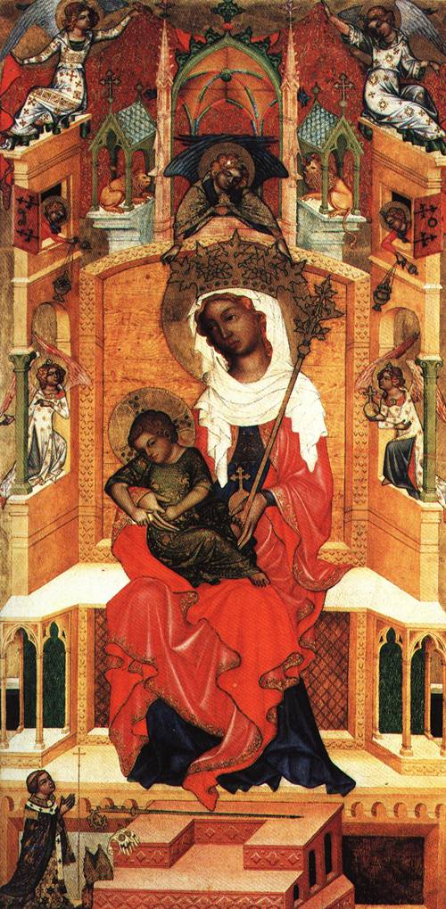 The virgin Enthroned with Child 1350 | bohemian school | Oil Painting