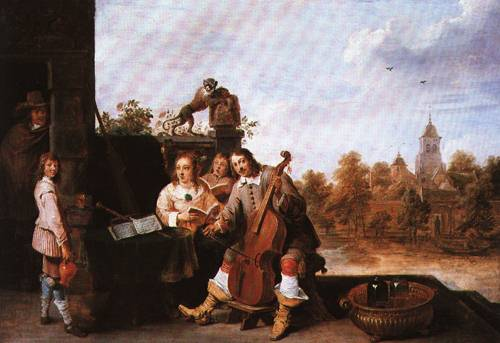 The Artist with his Family 1645 6 | David Teniers the Younger | Oil Painting