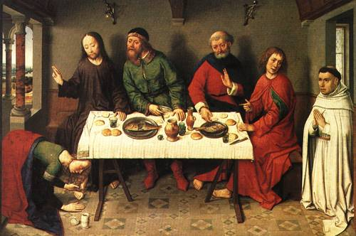 Chirst in the House of Simon the Pharisee | Dieric Bouts | Oil Painting