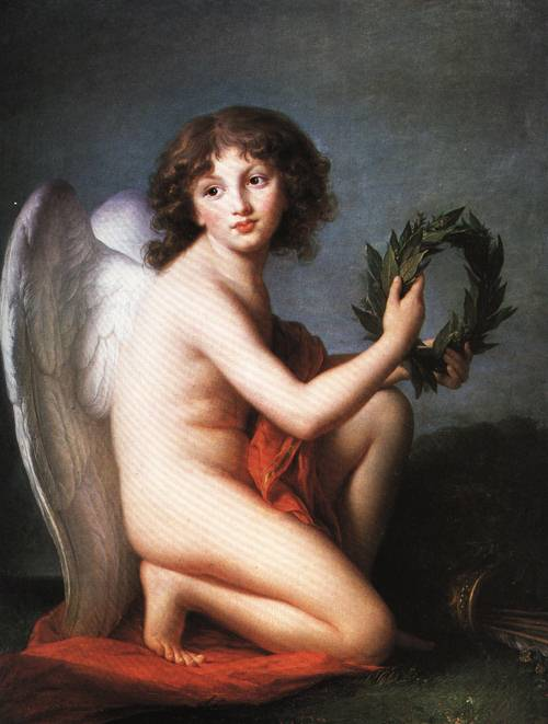 Prince Henry Lubomirski as the Genius of Fame 1789 | Elisabeth Louise Vigee Lebrun | Oil Painting
