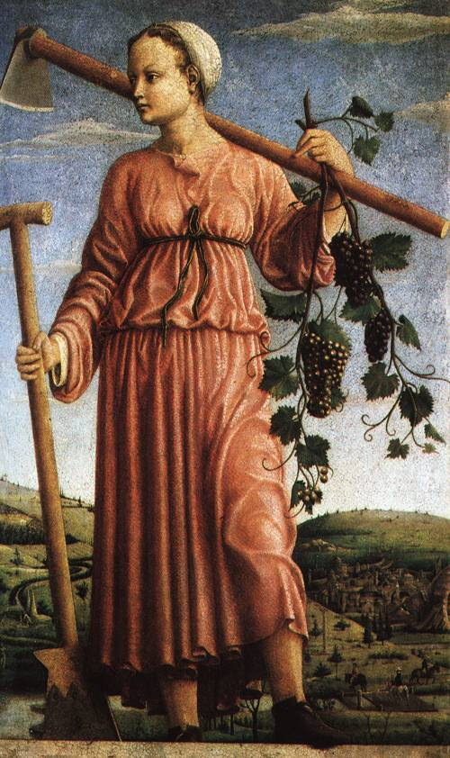 The Muse Polyhymnia as Inventor of Agriculture 1450 | Ferrarese Master | Oil Painting