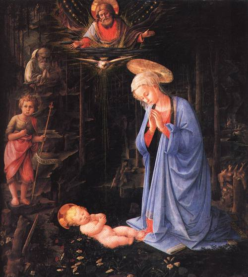 The Virgin Adoring the Child 1459 | Fra Filippo Lippi | Oil Painting