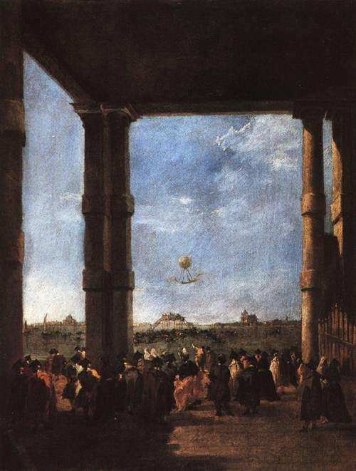 The Balloon Ascent 1784 | Francesco Guardi | Oil Painting