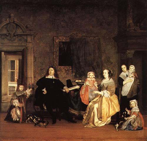 The Family of Dr Valckenier Mayor of Amsterdam 1657 | Gabriel metsu | Oil Painting