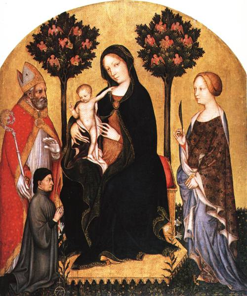 The Virgin Enthroned with Child Two Saint sand a Donor | Gentile da Fabriano | Oil Painting