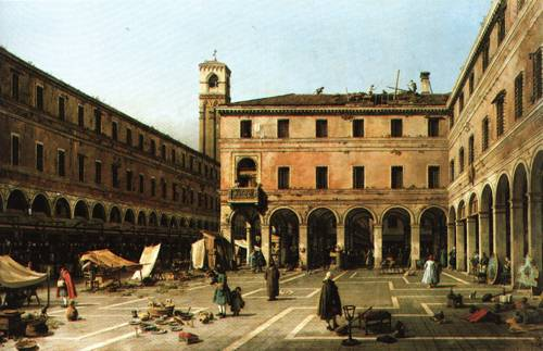 The Campo di Rialto 1758 9 | Giovanni Antonio Canal called Canaletto | Oil Painting