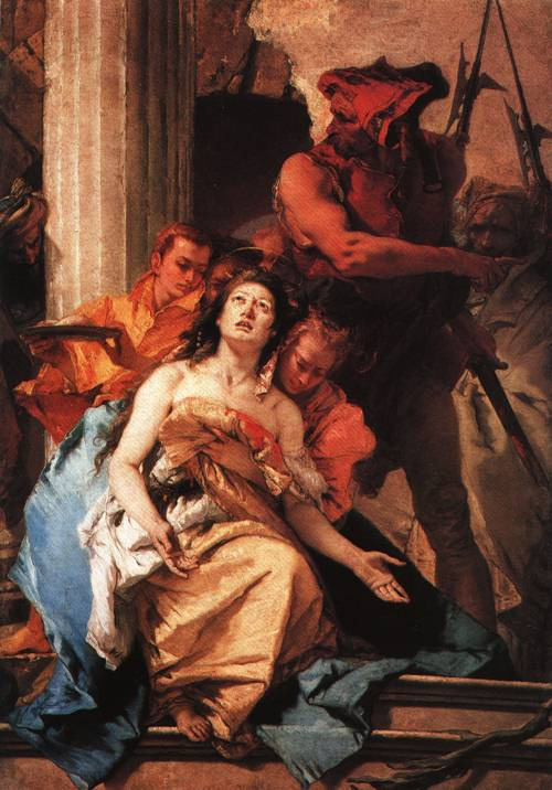 The Martyrdom of St Agatha 1750 | Giovanni Battista Tiepolo | Oil Painting