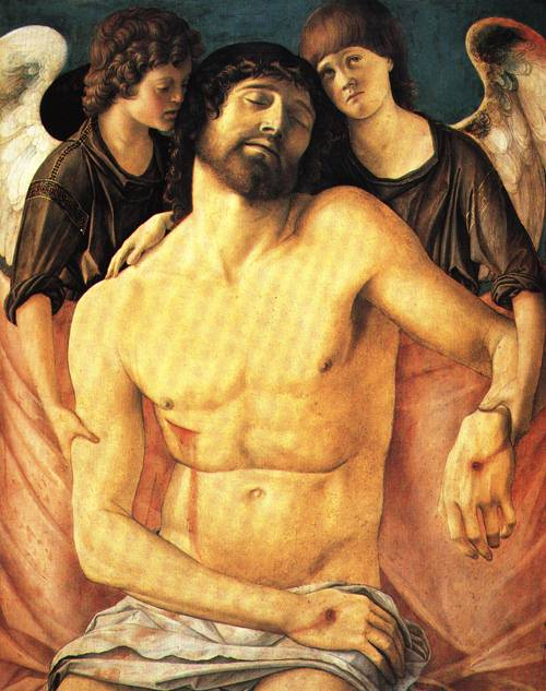 The Dead Christ Supported by Two Mourning Angels 1480 5 | Giovanni Bellini | Oil Painting