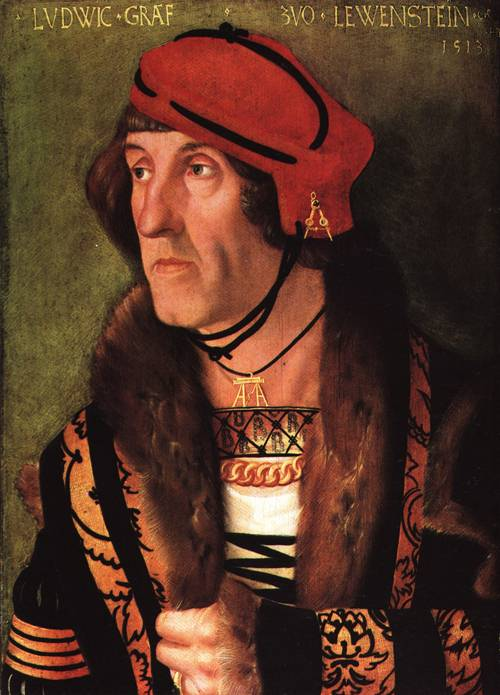 Portrait of Count Lowenstein 1513 | Hans Baldung called Grien | Oil Painting