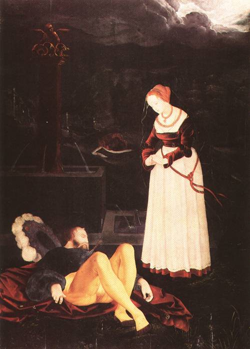 Pyramus and Thisbe 1530 | Hans Baldung called Grien | Oil Painting